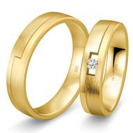 Design trouwringen in geelgoud