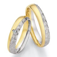 Platina met goud en diamant(en)