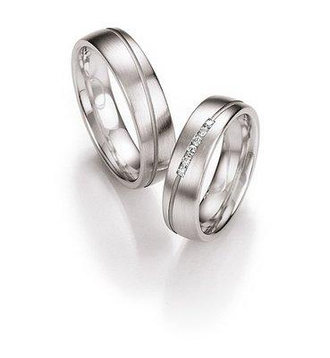Mooye trouwringen in platina per paar vanaf