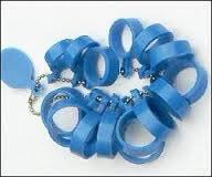 Pasringen kunststof blauw maat 15 - 22 mm voor brede ringen