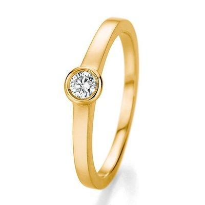 Verlovingsring in 14/18 karaat 585 geelgoud met 0,20 ct diamant