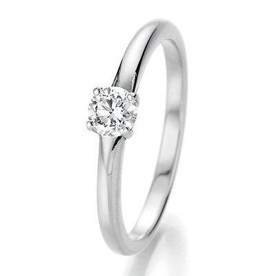 Verlovingsring in 14/18 karaat 585 witgoud met 0,33 ct diamant