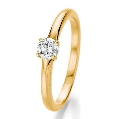 Verlovingsring in 14/18 karaat 585 geelgoud met 0,33 ct diamant