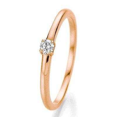 Verlovingsring in 14/18 karaat 585 rosé goud met 0,10 ct diamant
