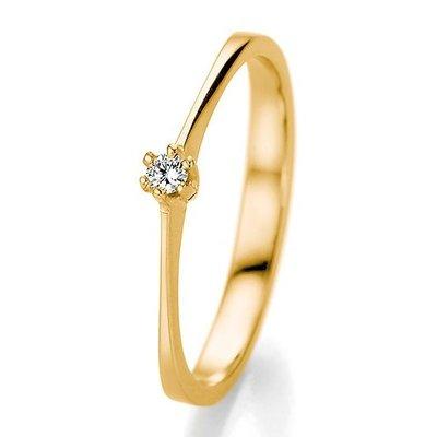 Verlovingsring in 14/18 karaat 585 geelgoud met 0,06 ct diamant
