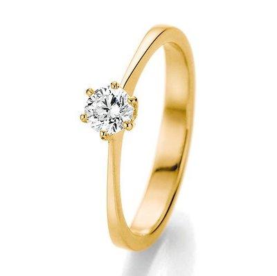 Verlovingsring in 14/18 karaat 585 geelgoud met 0,25 ct diamant
