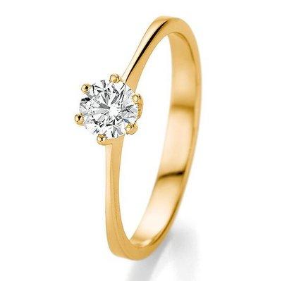 Verlovingsring in 14/18 karaat 585 geelgoud met 0,50 ct diamant