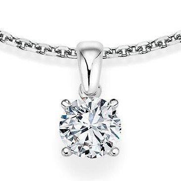 Kettinghanger in witgoud 4 punts vatting met diamant vanaf
