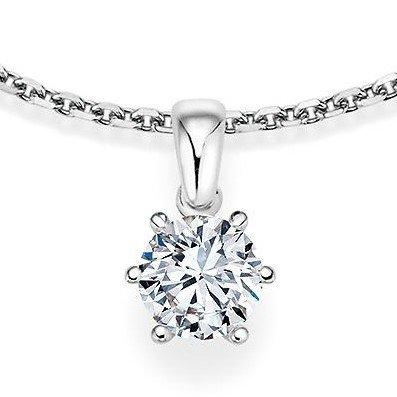 Kettinghanger in witgoud 6 punts vatting met diamant vanaf