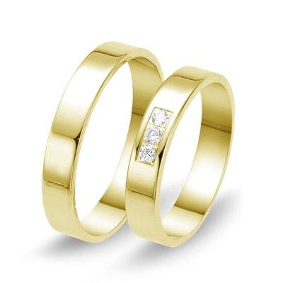 Actie trouwringen in 8/14/18 karaat geelgoud per paar vanaf