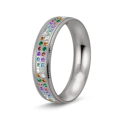 Solitair ring in palladium 500/950 diamond lovers