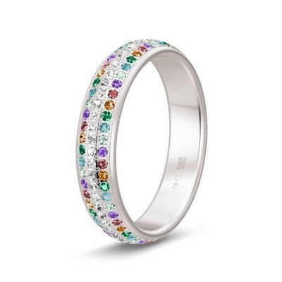 Solitair ring in 14/18 karaat witgoud diamond lovers