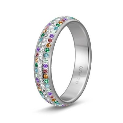 Solitair ring in platina 600/950 diamond lovers