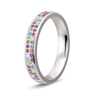 Solitair ring in 14/18 karaat witgoud diamond lovers