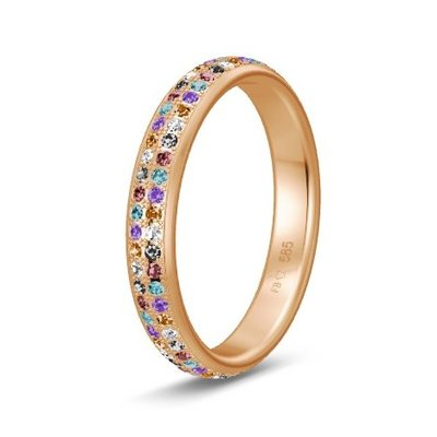 Solitair ring in 14/18 karaat roségoud diamond lovers
