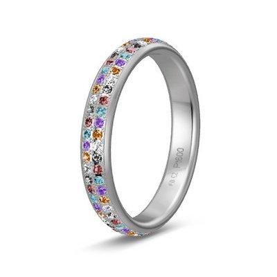 Solitair ring in platina 600/950 diamond lovers